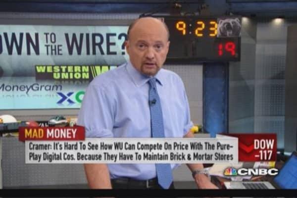 Money transfer stocks: Cramer's forecast