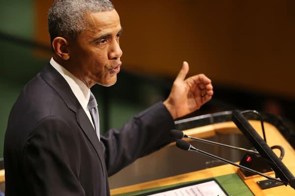 President Barack Obama speaks at the U.N. General Assembly, Sept. 24, 2014.