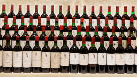 65 bottles of Chateau Latour sold at auction for $70,0000.