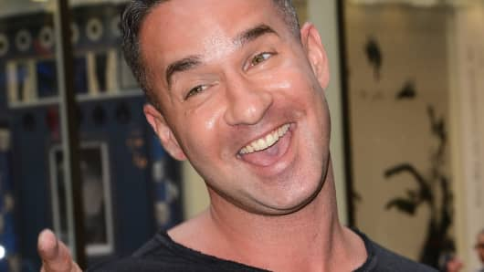 Television personality Mike Sorrentino on September 4, 2014 in New York City.