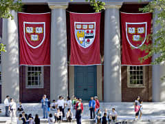 Harvard University banners