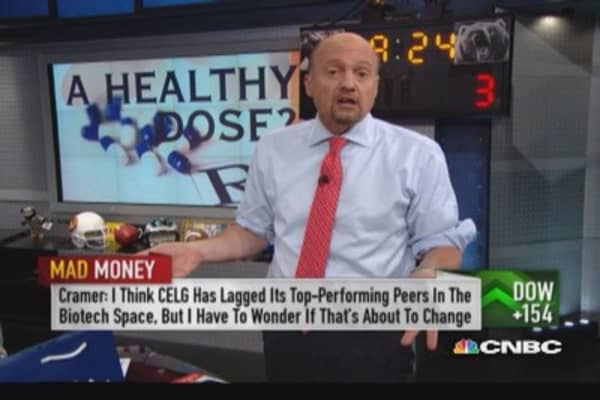 Cramer's favorite large cap biotech plays