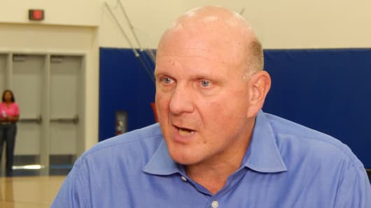 Steve Ballmer, Los Angeles Clippers, during an interview with CNBC.
