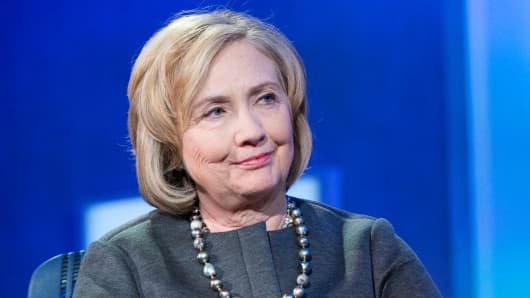 Hillary Clinton at the 2014 CGI annual meeting in New York.
