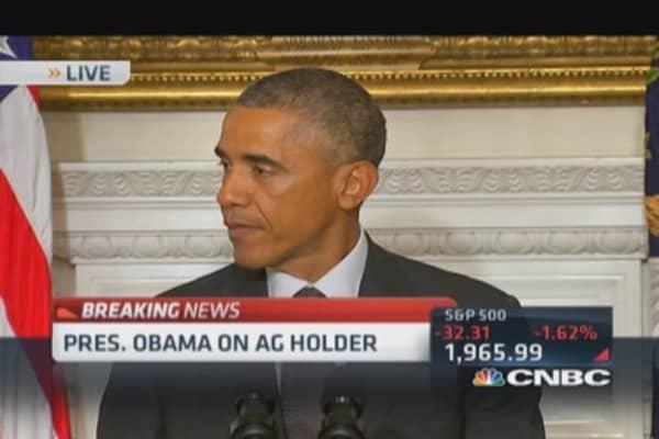 President Obama: AG Holder resignation bittersweet