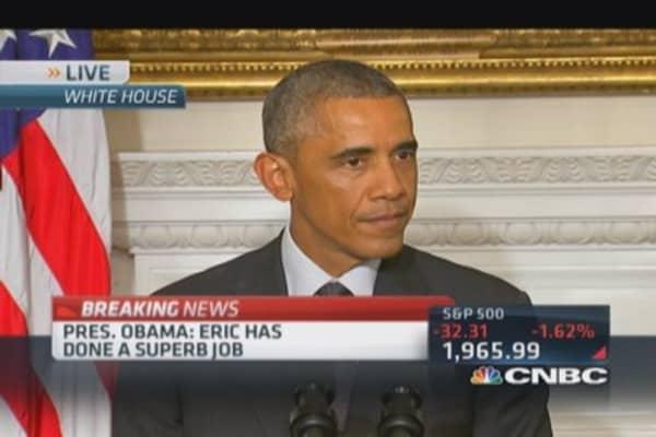 Pres. Obama: Holder's done superb job
