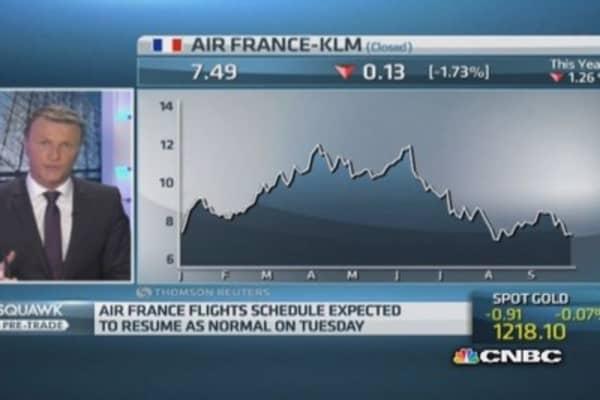 Air France pilots end strike