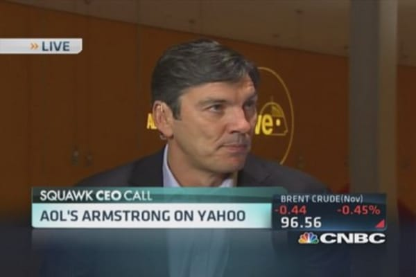 AOL CEO on Yahoo: Our focus on AOL strategy