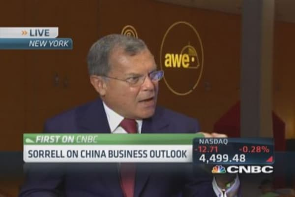 WPP CEO: Strong bull on China