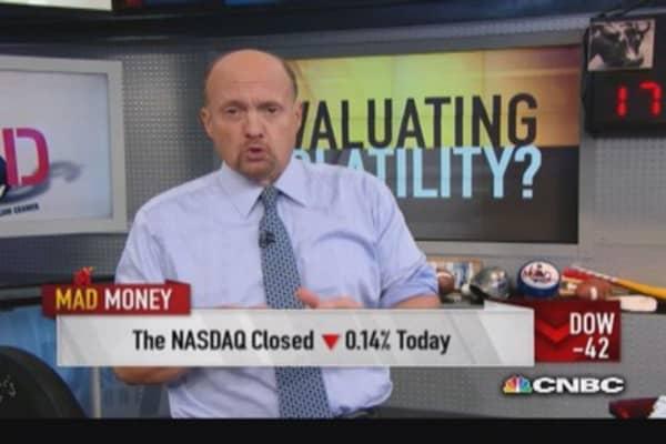 Cramer focuses on recent volatility