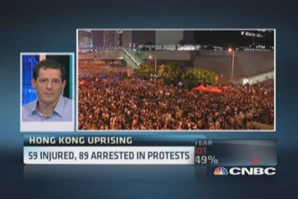 Hong Kong protests: Day 5