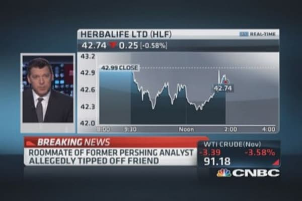 SEC charges 2 with insider trading in Herbalife shares