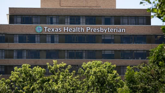 Texas Health Presbyterian Hospital in Dallas.