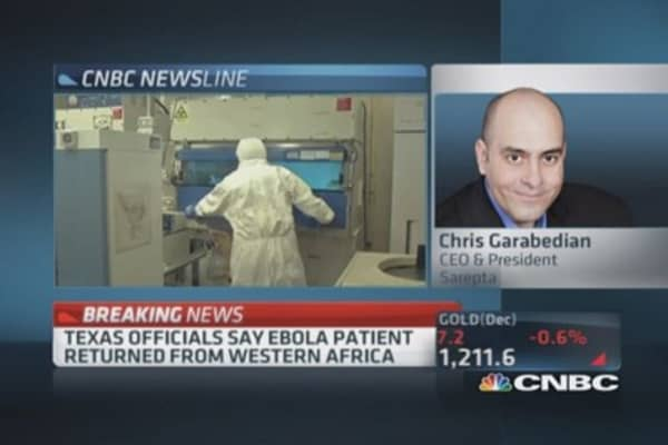 Sarepta CEO ready with Ebola drug if requested