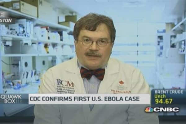 US won't see an Ebola epidemic: Expert