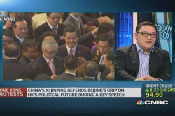 HK politician calls for international involvement