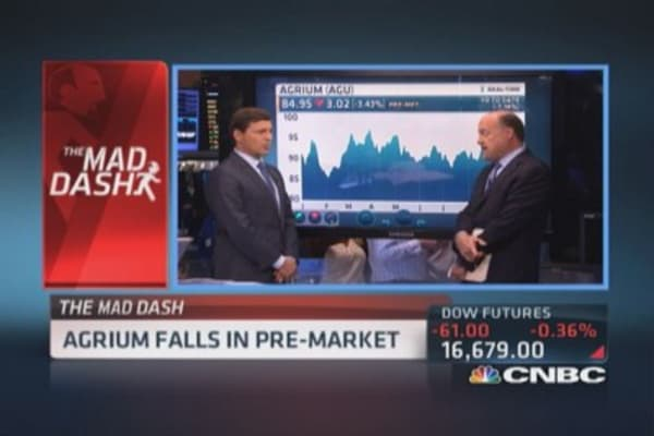 Cramer's Mad Dash: CREE & AGU stumble