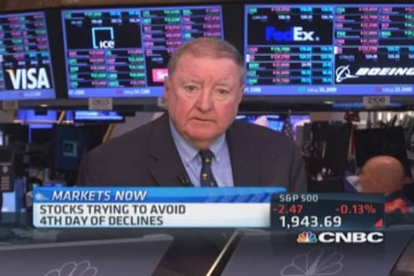 Cashin says early selling came from Europe