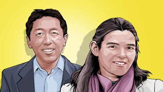 Andrew Ng & Daphne KollerNg CNBC Next 25