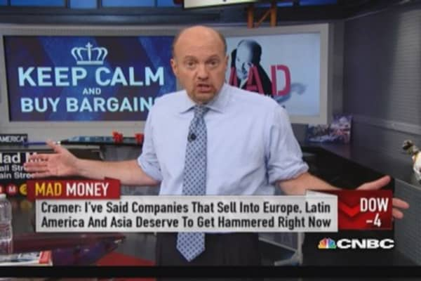 Cramer: Panic doesn't pay
