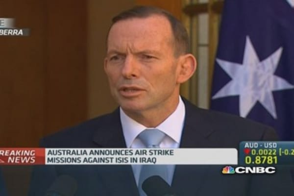 Australia authorizes air strikes in Iraq
