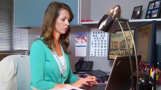 Jill Tracy, an apprentice coder at Cox Health
