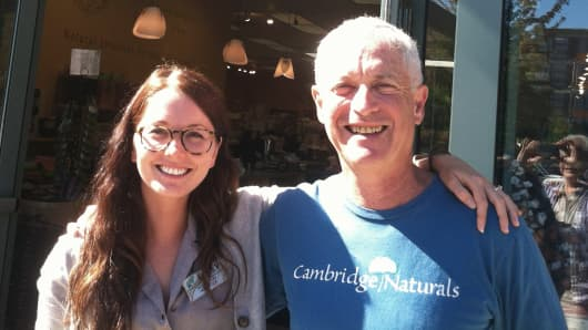 Cambridge Naturals co-founder Michael Kanter and his daughter Emily Kanter.
