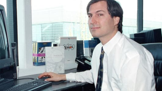 Steve Jobs, at NeXT Computer offices in 1991
