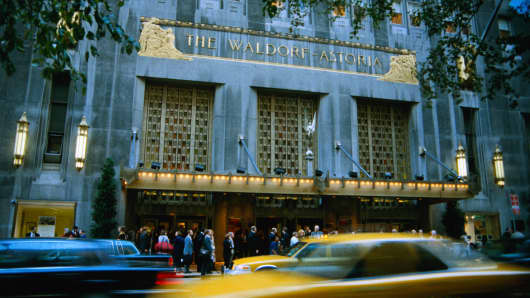 The Waldorf Astoria Hotel in New York.