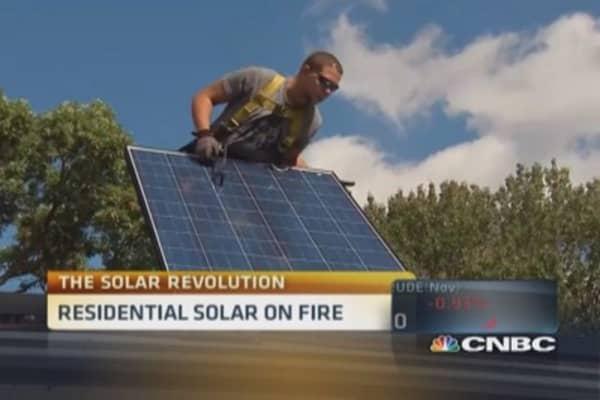 Residential solar on fire