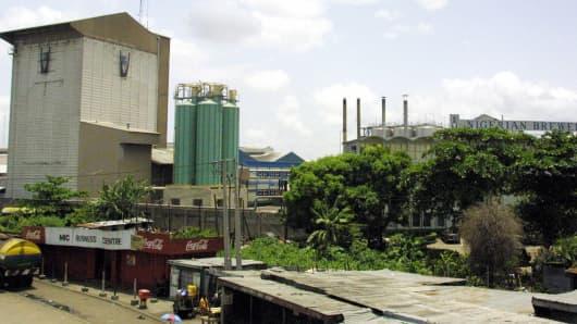 Nigerian Breweries plant in Lagos, Nigeria