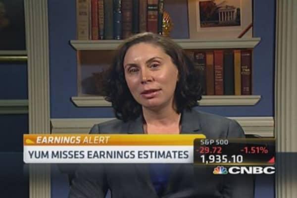 Yum earnings miss