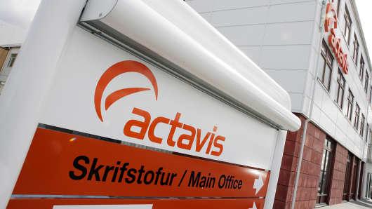 Actavis Group headquarters is shown in Hafnarfjordur, Iceland, April 20, 2006.