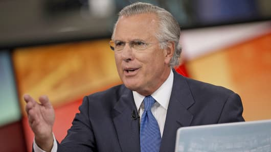 Federal Reserve Bank of Dallas President and CEO Richard Fisher speaks during an interview in New York.