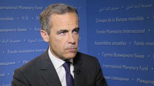 Mark Carney, Governor of Bank of England.
