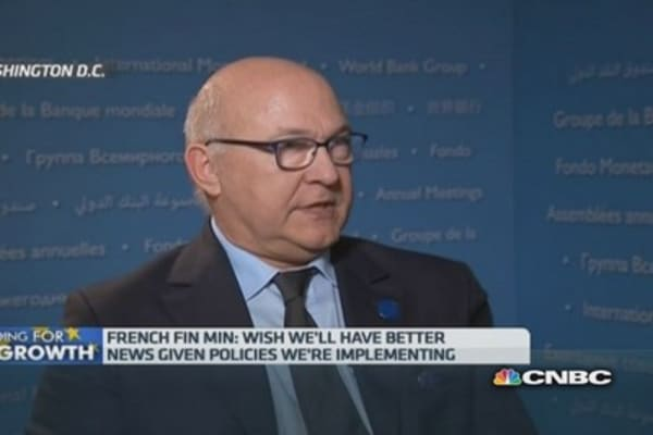 French outlook downgrade a euro zone issue: Fin Min