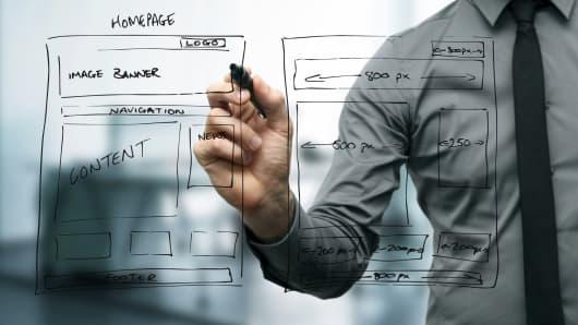 Technology start-up website development