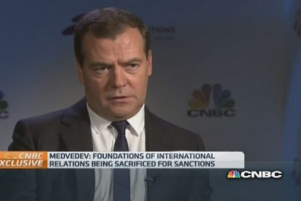 Russia/US relations 'back to square one': Medvedev
