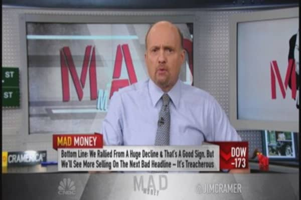 We'll see more selling on bad news: Cramer