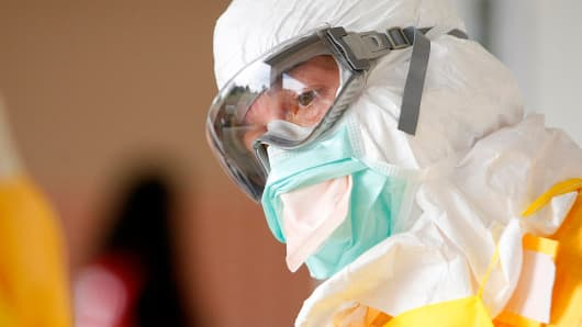 A CDC safety training course on Ebola in Anniston, Ala.