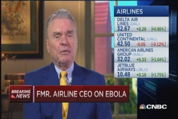 Ebola fears hit airlines