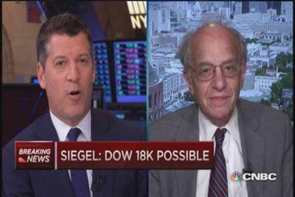 Jeremy Siegel: Dow 18,000 still possible