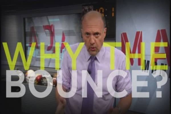 Cramer: Why the market bounced
