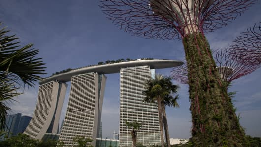 Marina Bay Sands is a multibillion dollar resort developed by Las Vegas Sands in Singapore and billed as the world's most expensive casino property.