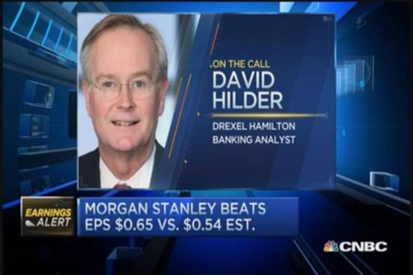 Morgan Stanley beats Street on top and bottom line in Q3