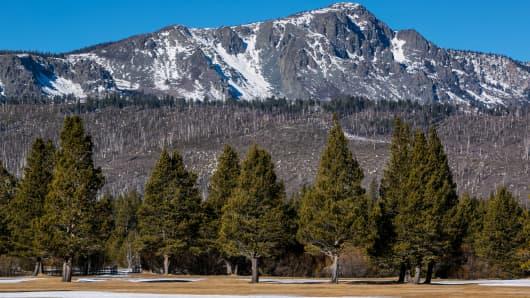 Sierra Nevada Mountains near Lake Tahoe
