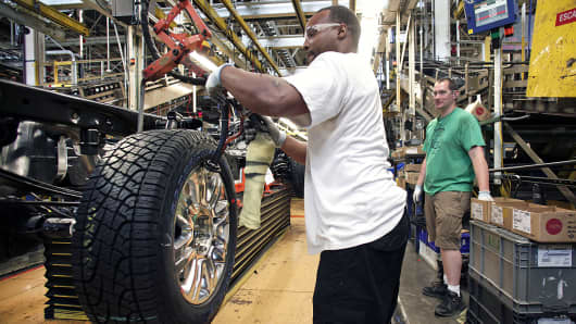 Production of a Ford F-150 at the Ford Dearborn Truck Plant