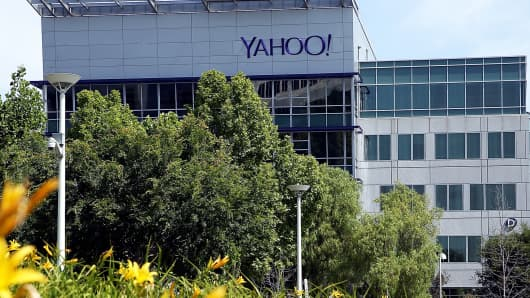 Yahoo! headquarters in Sunnyvale, Calif.