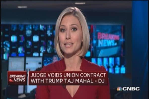 Judge voids Trump Taj Mahal union contract: DJ