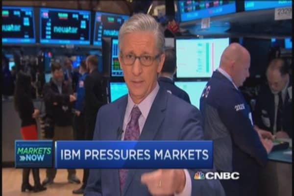 Pisani's market open: IBM miss weighs on Dow
